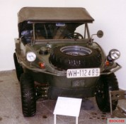 Schwimmwagen at the Army Museum Dresden with the top up.