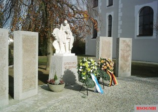 A memorial to First and Second World War German soldiers in Tannheim, Baden-Württemberg.