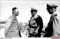 Erwin Rommel, Albert Kesselring, and Ugo Cavallero
