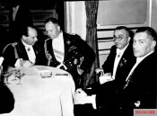 Lord's evening of the Lilienthal Society in the New Palace of Potsdam on October 11, 1938, Ernst Udet, Erhard Milch, and Ernst Heinkel.