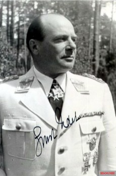 "Ernst Udet wearing the Knight of the Order ""Pour le Mérite"" with the Knight's Cross of the Iron Cross."