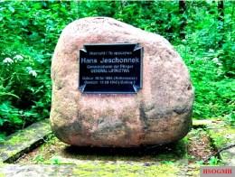 Hans Jeschonnek's grave in Gołdap, Warmian-Masurian Voivodeship, Poland.