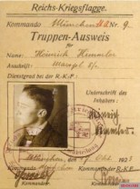 """Membership card of the military association """"Reichs Kriegsflagge"""" 1923."""