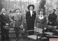 From left: Walther Wever, Erhard Milch, Hermann Goering, Karl-Heinrich Bodenschatz, and Albert Kesselring at the topping-out ceremony of the Reich Aviation Ministry on October 12, 1935.