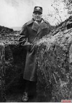 Romanian general Corneliu Teodorini in the trenches, January 1944.