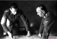 SS-Oberführer Joachim Ziegler at a meeting with SS-Obergruppenführer Felix Steiner in Berlin.