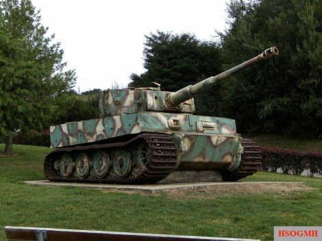 The Vimoutiers Tiger tank in Vimoutiers, Normandy, France.