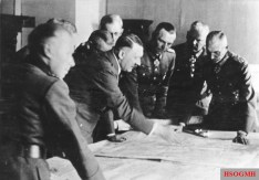 Mackensen (2nd from right) with Hitler and fellow staff.