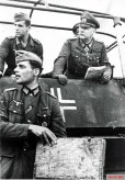 General of the Cavalry Friedrich August Eberhard von Mackensen in his armored scout car on the Eastern Front in conversation with a Major of the Artillery.