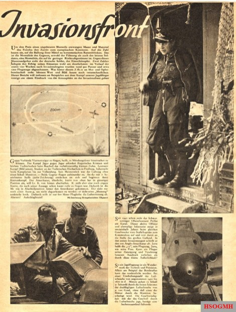 Invasion Front, The Eagle , Issue 16, August 1944.