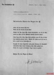 The award certificate of the SS-Ehrendgen for Jakob Grimminger.
