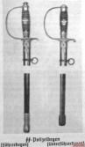 Police swords.