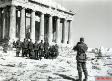 Victorious German soldiers on the Acropolis, 1941.