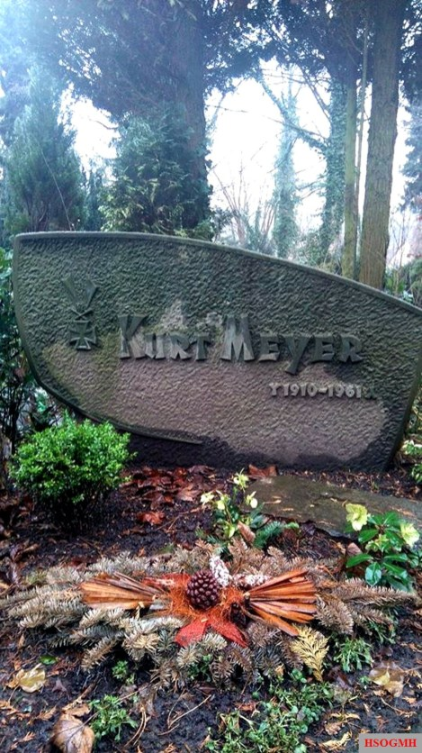 Tomb of Kurt Meyers at Field 16, Grave 16 at the Friehof in Hagen-Delstern on the mountainside, 13 February 2016.