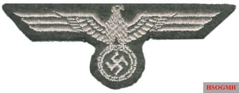 Machine-embroidered Panzer Hoheitszeichen.