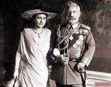 Wilhelm II with his second wife Hermine in the House Doorn.