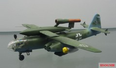 Model of an Arado Ar 234 carrying a V-1 at the Technikmuseum Speyer.