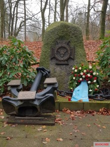 Battleship Bismarck Memorial in Friedrichsruh, Germany.