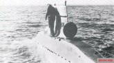 V-80 midget submarine during sea trials.