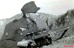 Friedrich Pein as a sniper of the Gebirgsjäger.