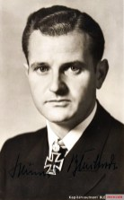 "German U-boat commander and ace, Korvettenkapitän Heinrich ""Ajax"" Bleichrodt."