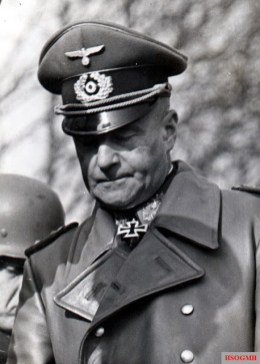 Generalfeldmarschall Walther von Brauchitsch wearing ledermantel (leather jacket).