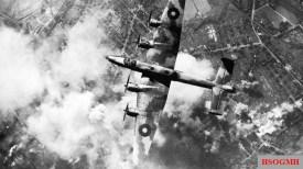British bombers over the city.