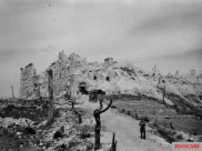 The abbey of Montecassino at the end of the fighting.