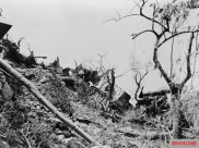 German vehicles destroyed in Cassino.