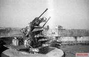 Flak Tower anti-aircraft guns silenced after the battle.
