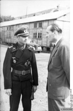 Grüner (left) in northern France, June 1942.