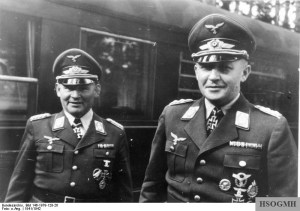 Ramcke (left) and Student in 1941.