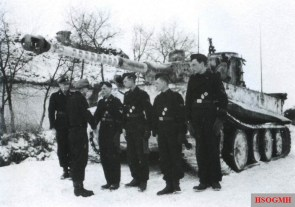 "On 14 January 1944, panzer ace Michael Wittmann was awarded the Ritterkreuz des Eisernen Kreuzes (Knight's Cross of the Iron Cross) along with his gunner, Bobby Woll, for their achievements which have so far destroyed 88 enemy tanks. The presentation was made at Vinnytsia, Ukraine, by his divisional commander SS-Oberführer Theodor ""Teddy"" Wisch, who also nominated him for the Eichenlaub to his Ritterkreuz."