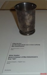 Silver beaker given to Max Immelmann, Bundeswehr Military History Museum.