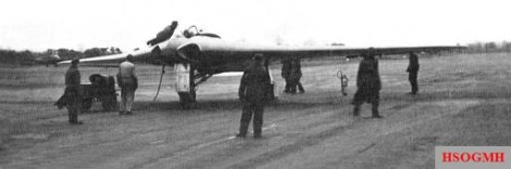 HIX V2 before the first flight, 1944.