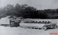 Modified sled being pulled behind a StuG III.