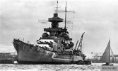 Schlachtschiff Scharnhorst in 1939.