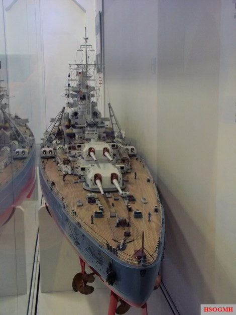 A model of the Bismarck in the Military History Museum of the Bundeswehr in Dresden.