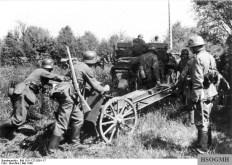 Horse drawn light artillery, Belgium, May 1940.