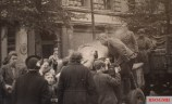 Residents of Berlin being fed by Soviet occupiers.