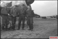 Focke-Wulf Fw 190 aces Oberleutnant Josef Wurmheller (wearing Ritterkreuz) and Oberfeldwebel Paul Bleyer of JG 2 (Jagdgeschwader 2) in France, July 1943.