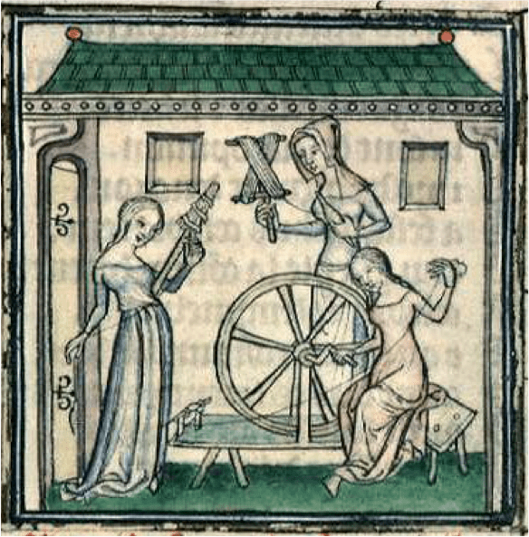 Drop spindle and great wheel