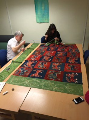 Sewing Skepptuna together, Rene Guthof and Ylva Nellmar/ Photo Historical Textiles