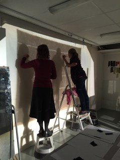 Drawing the pattern, Magdalena Fick and Allis Neijman