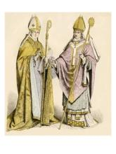 Bishop's with sudarium's attached to their staffs