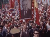 Oamenii muncii la defilare în Bucureşti de 23 august 1964