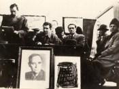 1946 - Nicolae Ceauşescu la un miting electoral Fototeca online a comunismului românesc cota 1-1946
