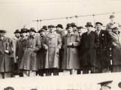 1947 - Nicolae Ceauşescu în dreapta stăpânului Gheorghe Gheorghiu Dej Fototeca online a comunismului românesc cota 1-1947