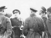 1940 ofiţeri români şi sovietici la retragerea din Basarabia