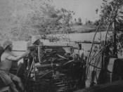 1942 soldaţi români în Kuban cu o mitralieră ZB-53